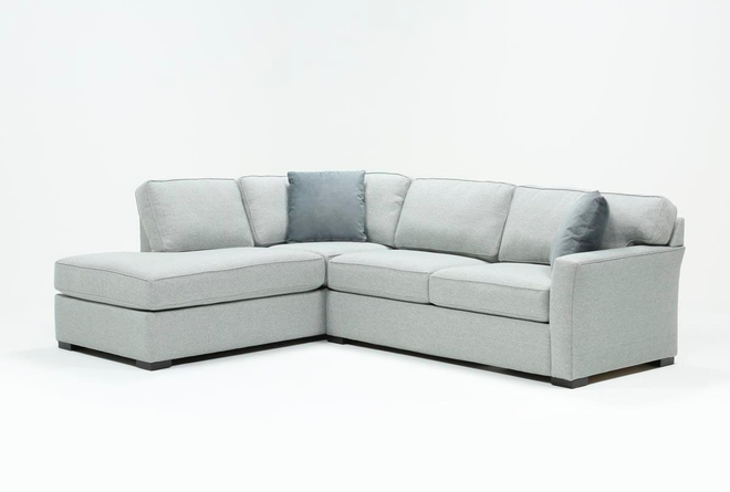 Aspen Dark Grey 2 Piece Sleeper Sectional with Left Arm Facing Chaise - 360
