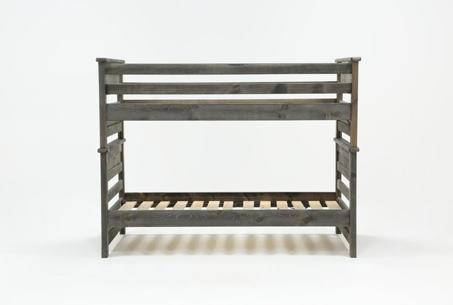 Summit Grey Twin Over Twin Bunk Bed - 360