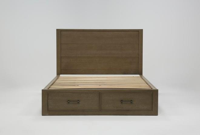 Conrad Grey Queen Panel Bed With Storage - 360