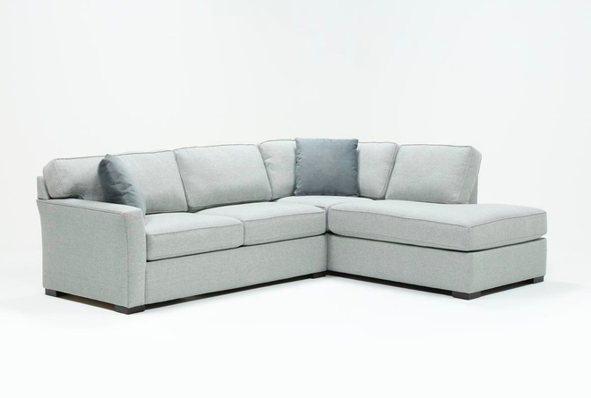 Aspen Light Grey 2 Piece Sectional with Right Arm Facing Chaise - 360