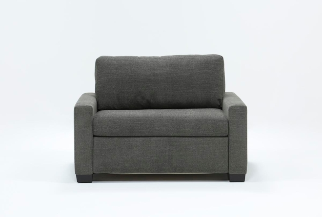 "Mackenzie Charcoal 53"" Twin Sofa Sleeper - 360"