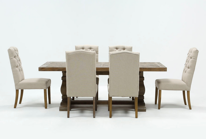 Caden 7 Piece Rectangle Dining Set With Biltmore Chairs - 360
