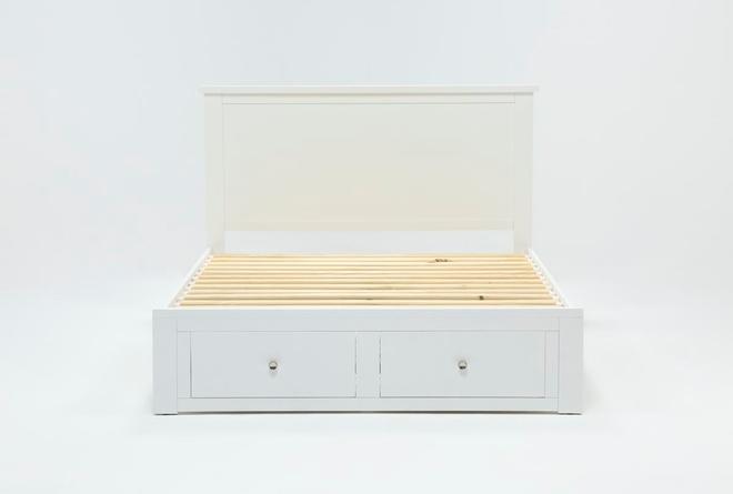 Larkin White Queen Panel Bed With Storage - 360