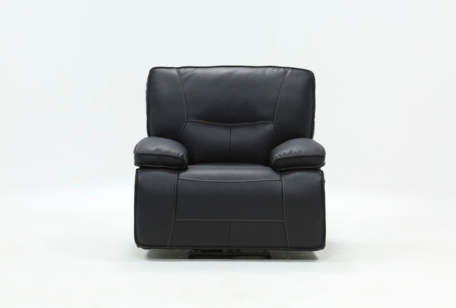 Marcus Black Power Recliner With Power Headrest & Usb - 360