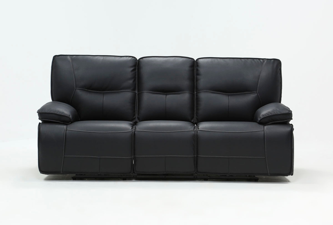 Marcus Black Power Reclining Sofa W/Pwr Headrest Usb - 360