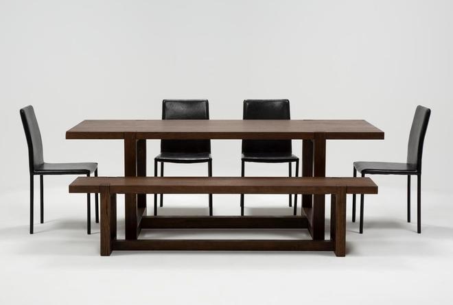 Luna 6 Piece Dining Set With Hayden II Black Chair - 360