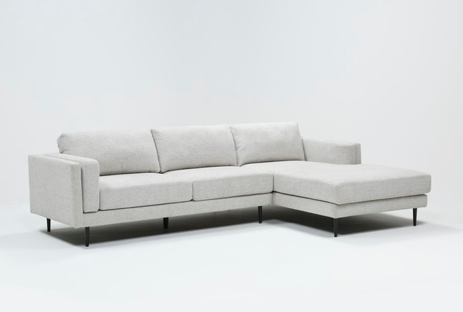 Aquarius II Light Grey 2 Piece Sectional With Right Arm Facing Chaise - 360