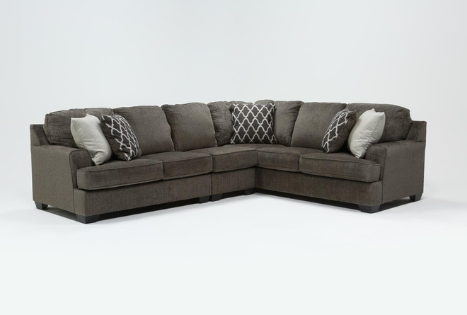 "Devonwood 3 Piece 128"" Sectional with Left Arm Facing Loveseat - 360"