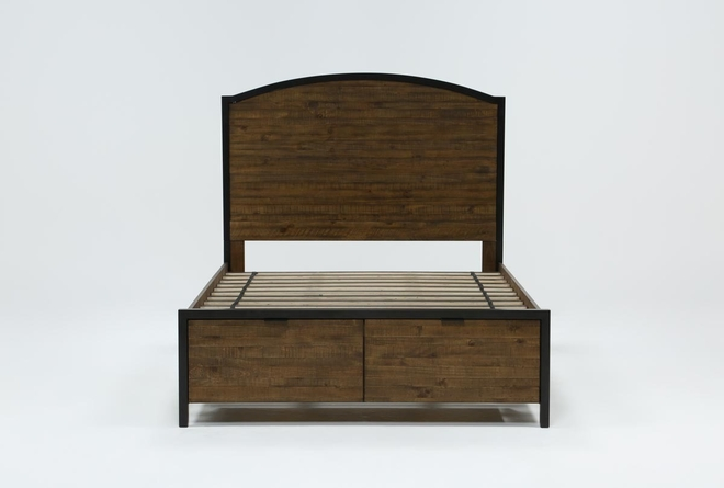 Foundry Eastern King Panel Bed With Storage - 360