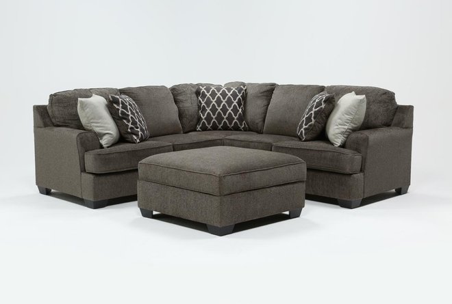 Devonwood 2 Piece Sectional with Left Arm Facing Loveseat and Ottoman - 360