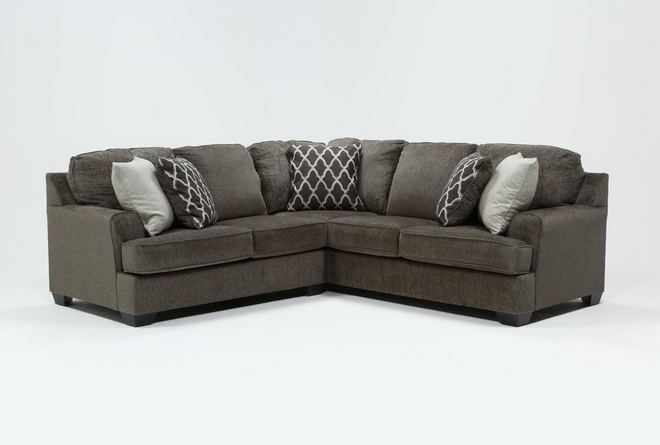 Devonwood 2 Piece Sectional with Left Arm Facing Loveseat - 360