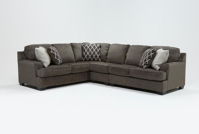 "Devonwood 3 Piece 128"" Sectional with Right Arm Facing Loveseat - 360"