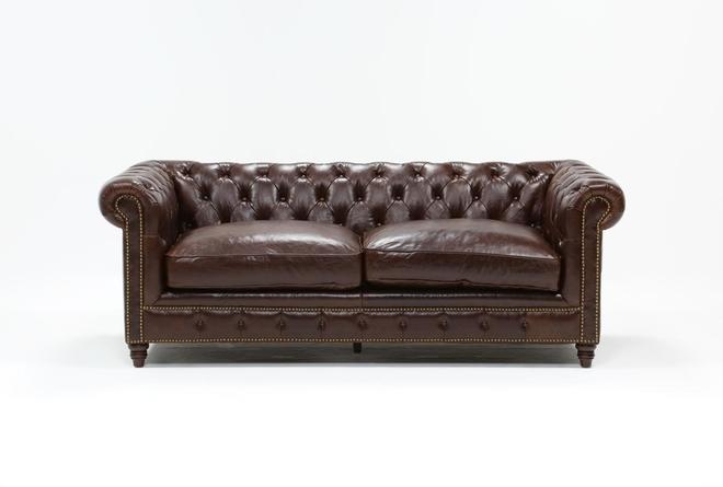 Churchill Leather Loveseat - 360