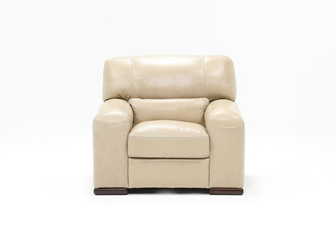 Grandin Wheat Leather Chair - 360