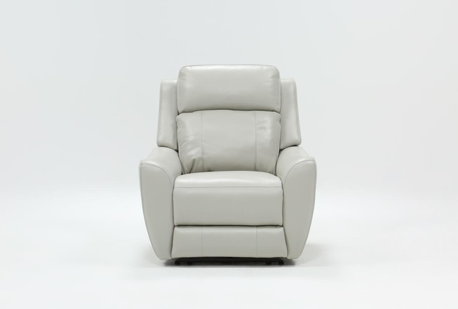 Bridget White Power Wallaway Recliner With Power Headrest And Lumbar - 360