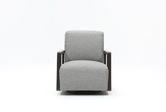 Kathleen Dark Grey Glider Chair  - 360