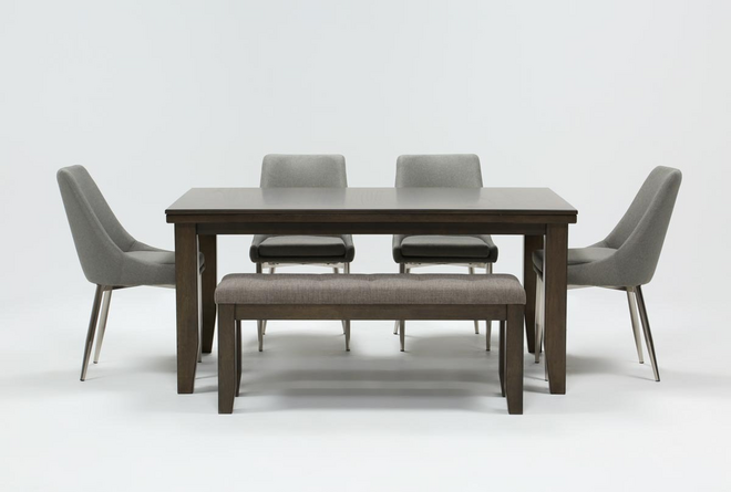 Ashford II 6 Piece Dining Set With Bowery II Chairs - 360