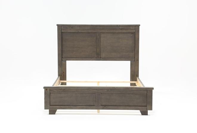 Marco Charcoal Queen Panel Bed - 360