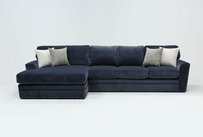 Prestige Foam 2 Piece Sectional With Left Arm Facing Oversized Chaise - 360