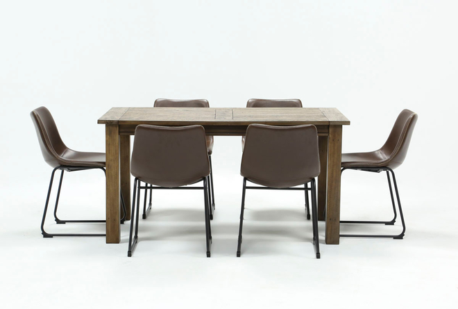 Highlands 7 Piece Dining Set With Cobbler Chairs - 360