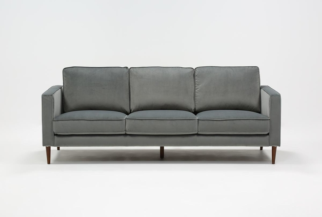 Fairfax Steel Grey Velvet Sofa - 360