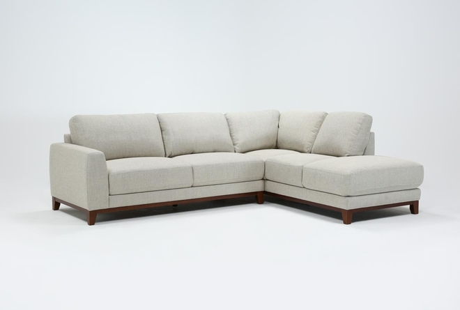 Amherst Cobblestone 2 Piece Sectional With Right Arm Facing Chaise - 360