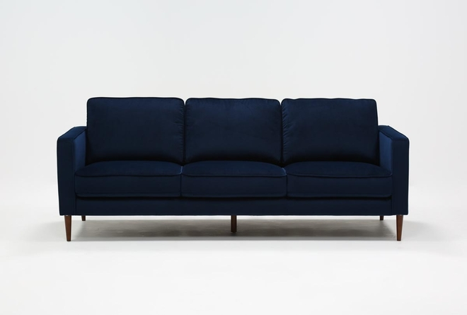 "Fairfax Denim Velvet 90"" Sofa - 360"