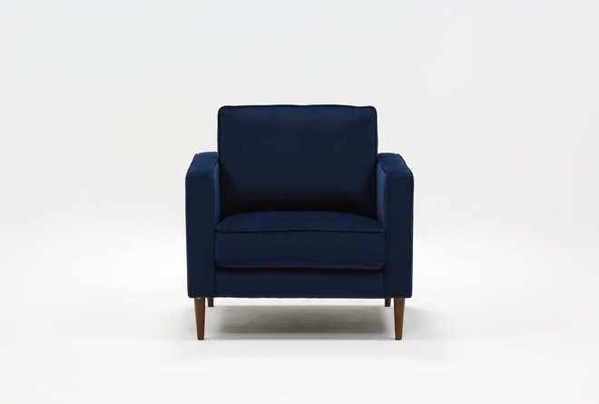 Fairfax Denim Velvet Chair - 360