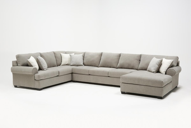 """Brody 3 Piece 163"""" Sectional With Right Arm Facing Chaise - 360"""