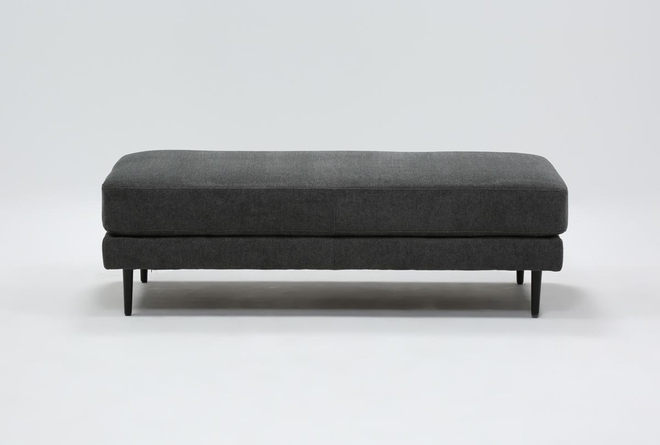 Aquarius II Dark Grey Cocktail Ottoman - 360