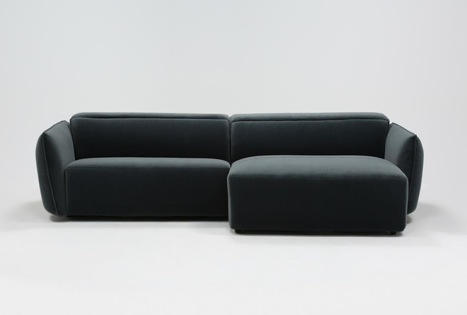 Layla Midnight 2 Piece Power Reclining Sectional With Right Arm Facing Chaise - 360