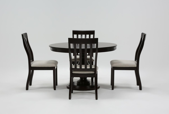 Rancho Brown Round 5 Piece Dining Set - 360