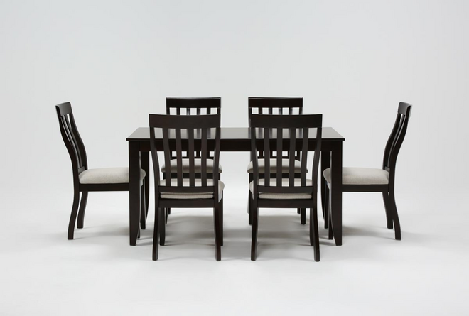 Rancho Brown Rectangle 7 Piece Dining Set - 360