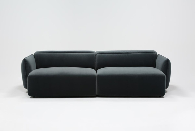 Layla Midnight Dual Chaise Sectional - 360