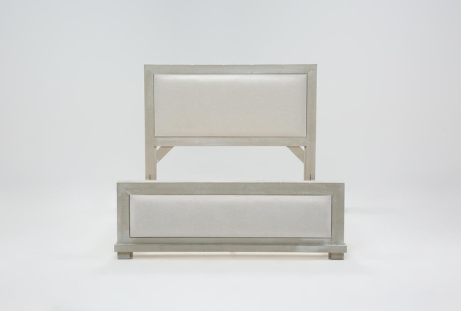Sinclair Pebble Eastern King Panel Bed - 360