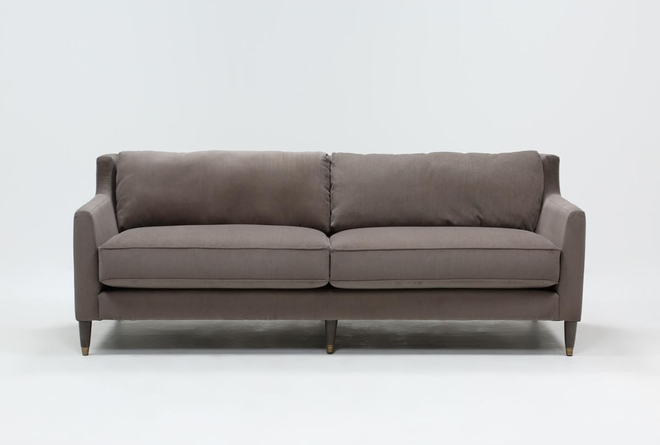 Ames Tan Velvet Sofa By Nate Berkus And Jeremiah Brent - 360
