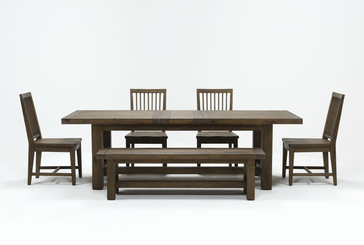 Gables 6 Piece Extension Dining Set Living Spaces