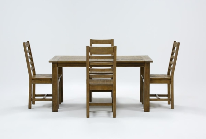 Highlands 5 Piece Dining Set With Caden Chairs - 360