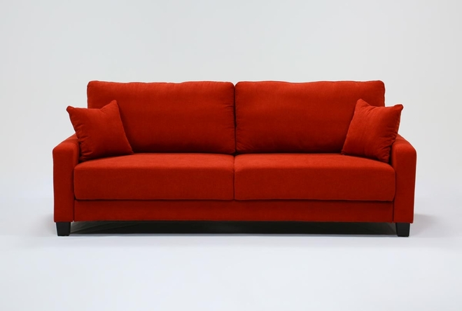 Pascal Red Queen Convertible Sofa Sleeper - 360