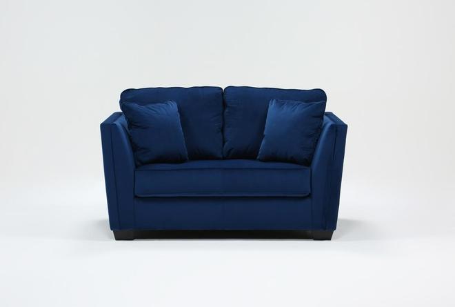Maven Ink Blue Loveseat - 360