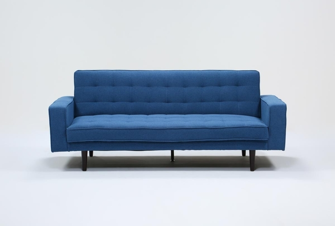 Petula Blue Convertible Sofa Bed - 360