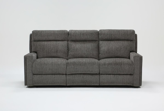 "Hewitt Grey 85"" Power Reclining Sofa With USB - 360"
