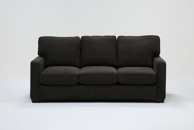 "Morris Charcoal 74"" Full Sleeper Sofa With Pillow Top Mattress - 360"
