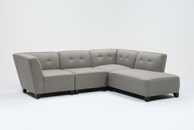 Benton III 4 Piece Sectional With Right Facing Bumper Chaise - 360