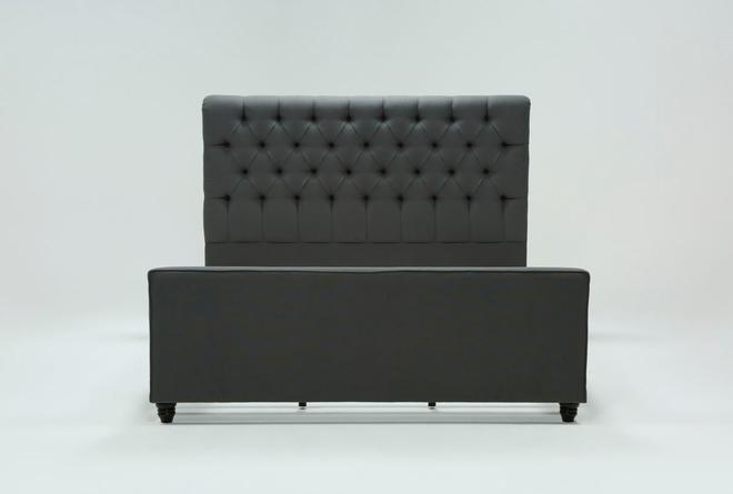 Leighton California King Upholstered Platform Bed - 360