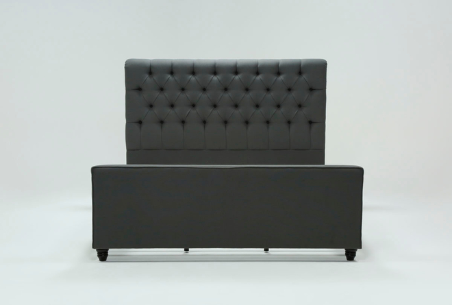 Leighton Queen Upholstered Platform Bed - 360