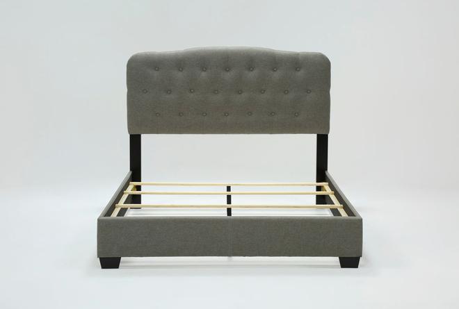 Mila Queen Upholstered Panel Bed - 360