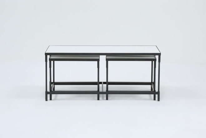 Lincoln Marble 3 In 1 Pack Tables - 360