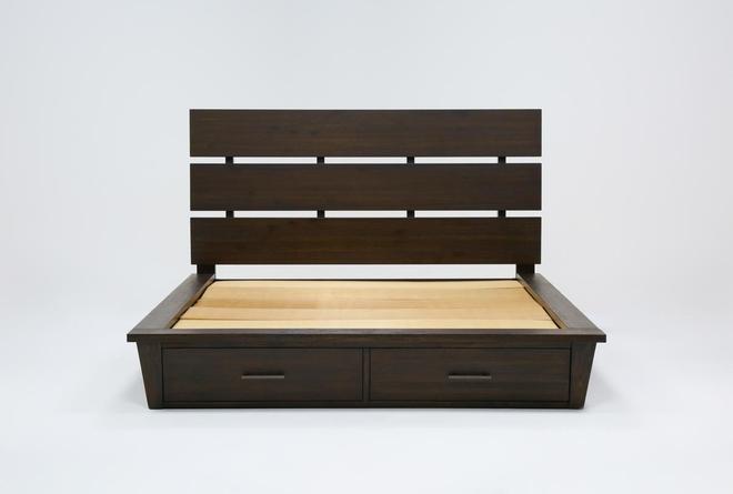 Teagan California King Panel Bed With Storage - 360