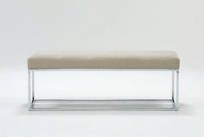 Topanga Velvet Bedroom Bench - 360